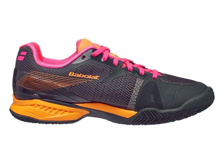 Buty Tenisowe Babolat Jet Clay Grey Orange Pink Women