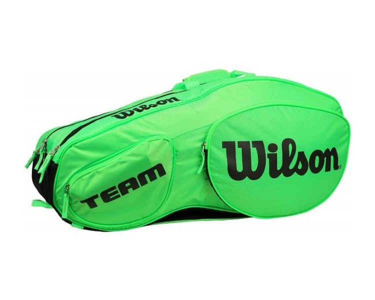 55592e46a30 TORBA NA RAKIETY WILSON TEAM III 12 PACK GREEN/BLACK BAG